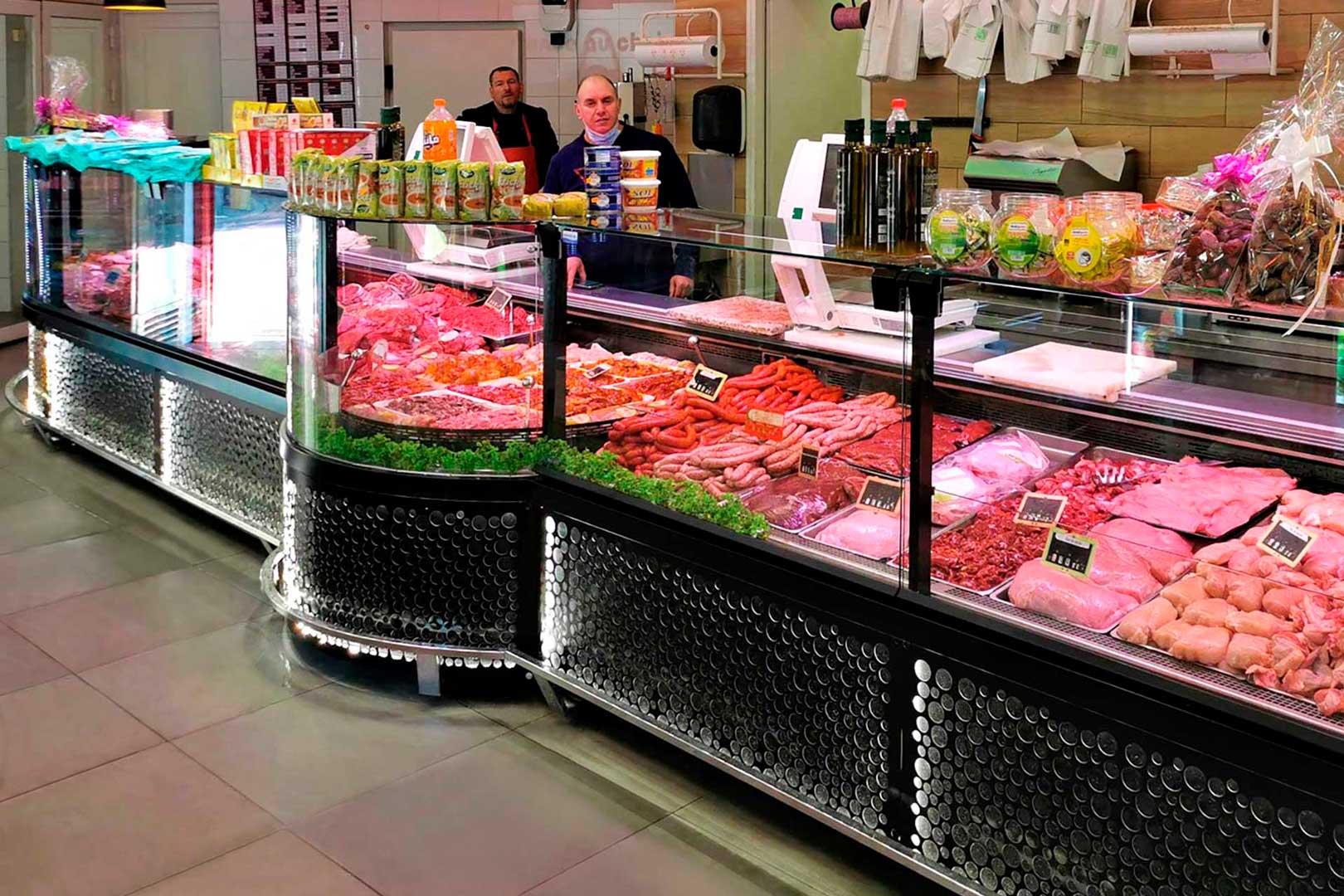 Холодильные витрины Missouri MC 120 M, магазин L'AVENIR во Франции