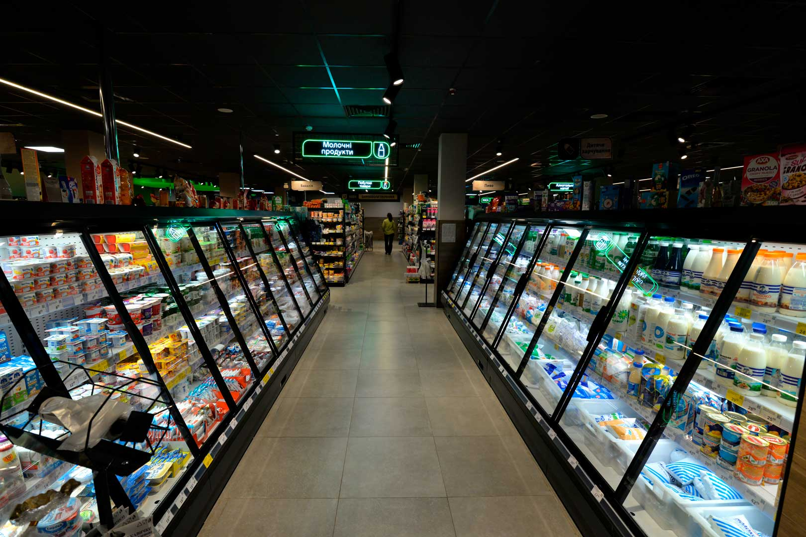 Refrigerated semi-vertical cabinets Louisiana eco MSV 105 MTD 160-DLM