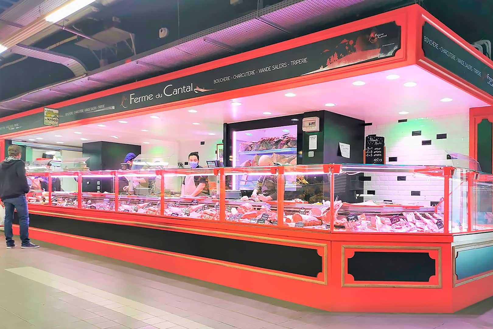 Холодильні вітрини Missouri MC 120 M, магазин LA FERME DU CANTAL у Франції