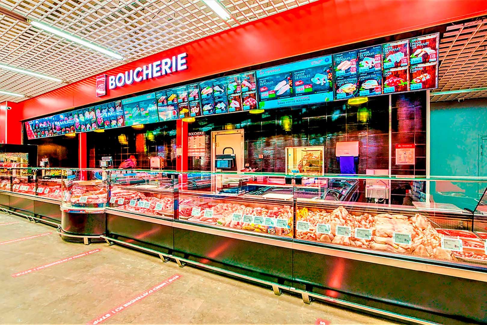 Холодильные витрины Missouri MC 120 M, магазин LE TRIANGLE во Франции