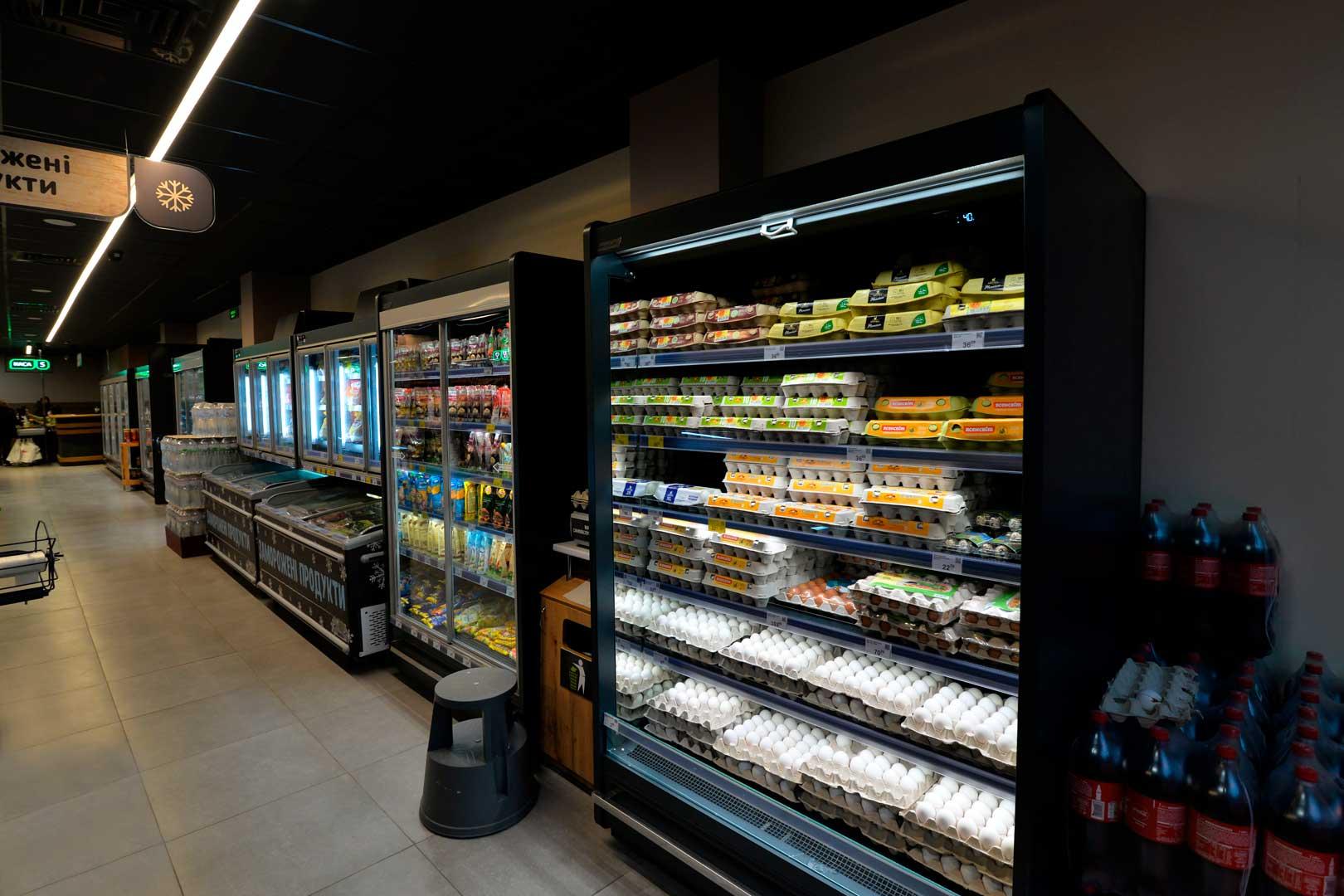 Пристенные холодильные витрины Indiana MV 090 MT O 205-DLM,Indiana MV 080 MT D 205-DLM