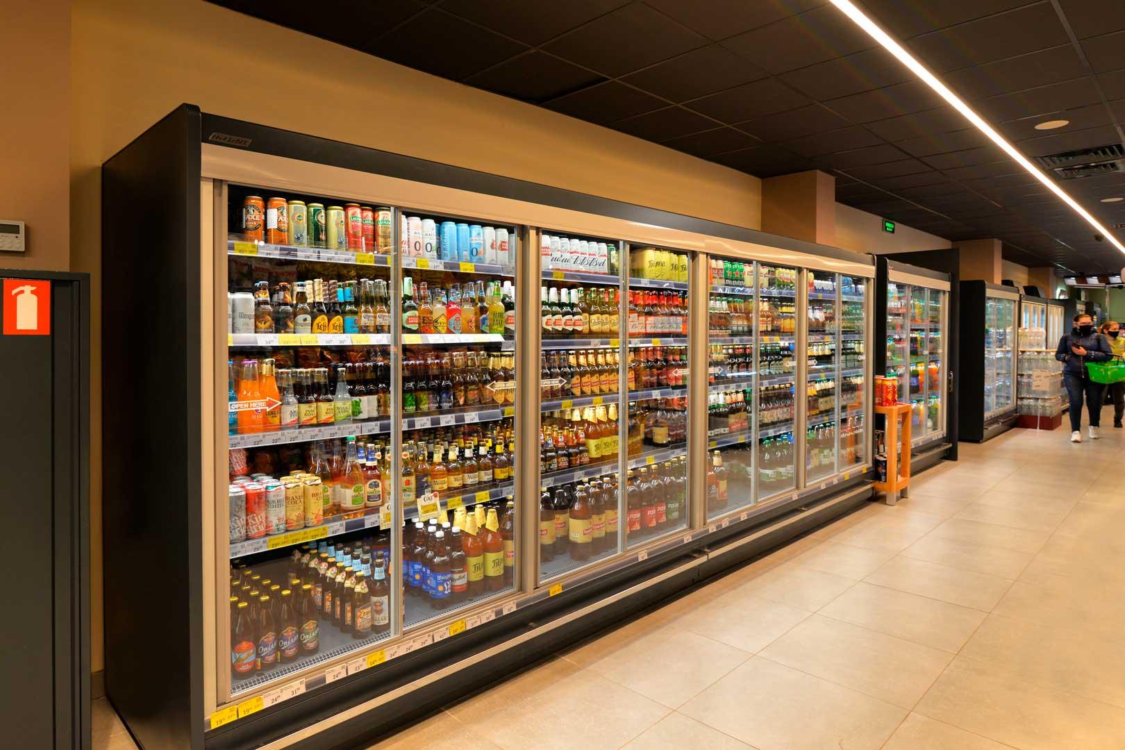 Пристенные холодильные витрины Indiana MV 090 MT D 205-DLM