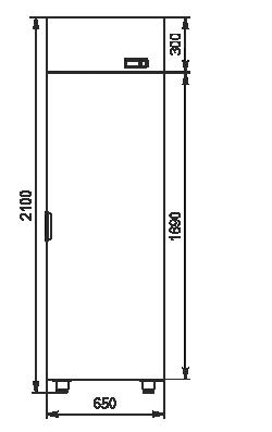 Холодильні шафи Kansas VАZG 065/075/085 MT/HT 1HD 210-D500/D600/D700A-065