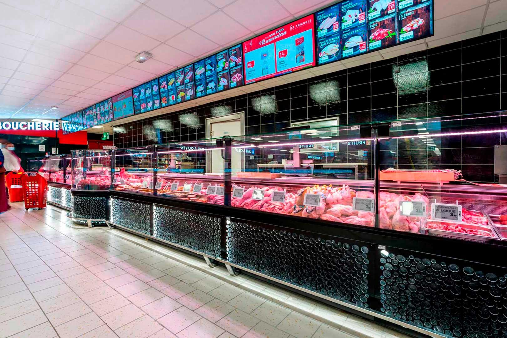Холодильні вітрини Missouri MC 120 M, магазин LE TRIANGLE у Франції