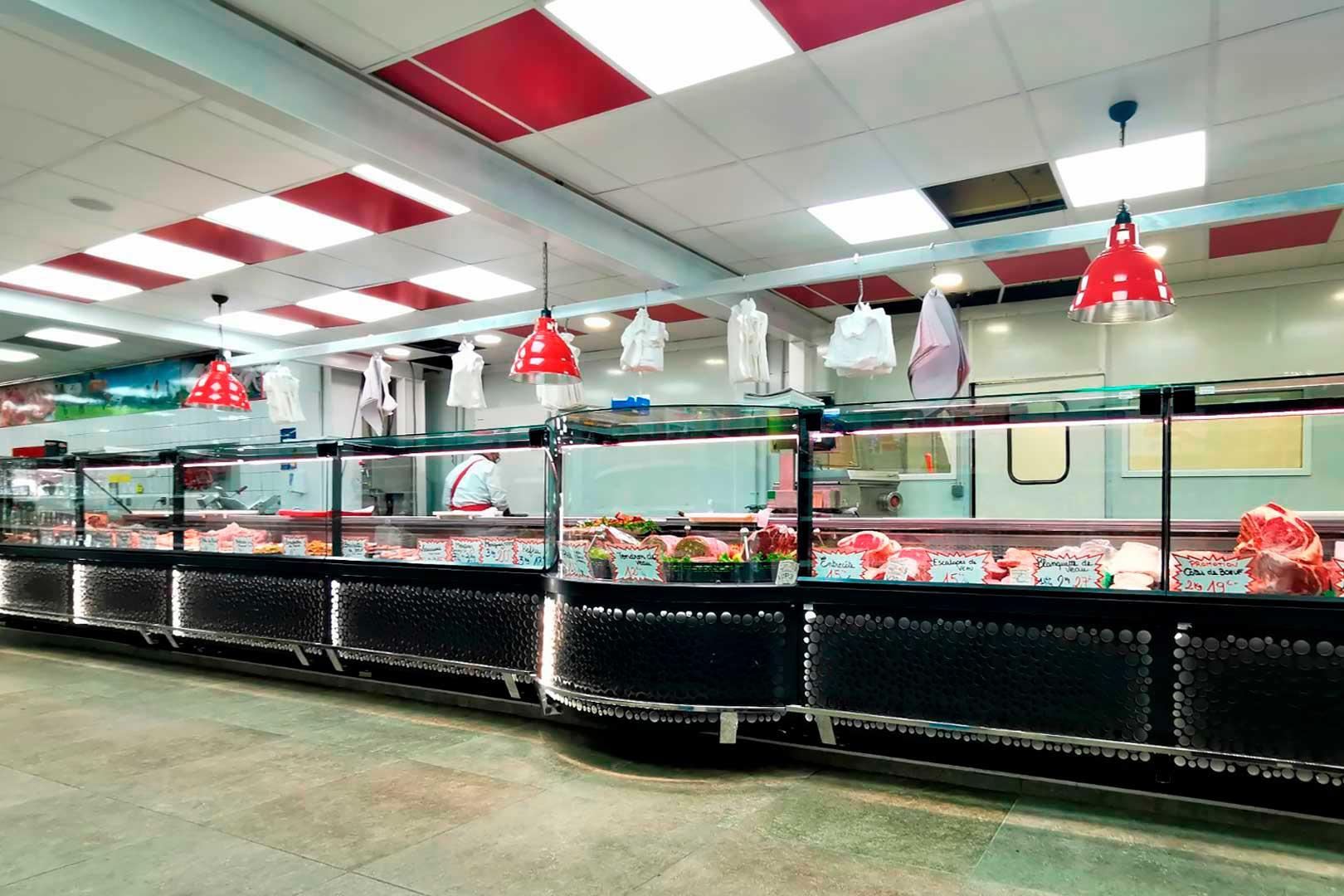Холодильные витрины Missouri MC 120 M, магазин OTM во Франции