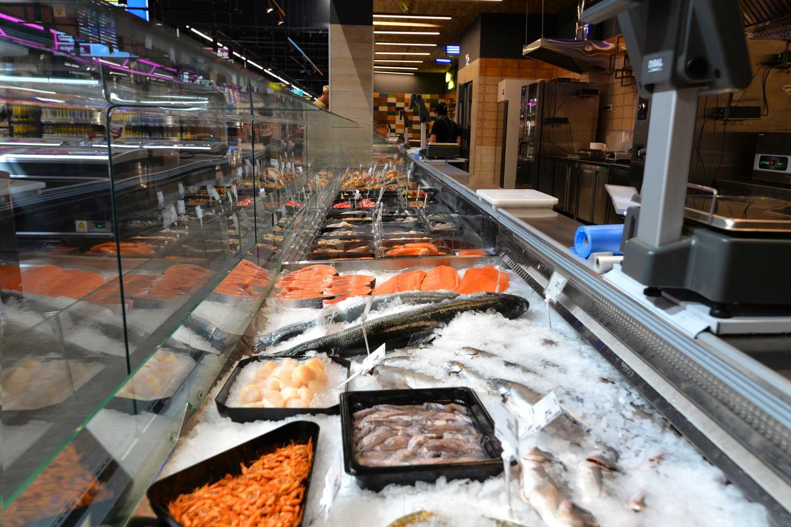 Спеціалізовані вітрини для продажу свіжої риби на льоду Мissouri MС 120 fish OS 120-SPLA-250