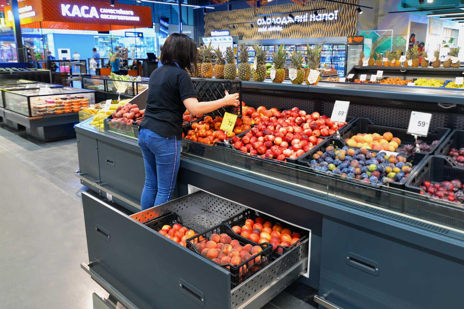 Спеціалізовані вітрини для продажу овочей і фруктів Missouri VF MC 110 VF self 110-DBM