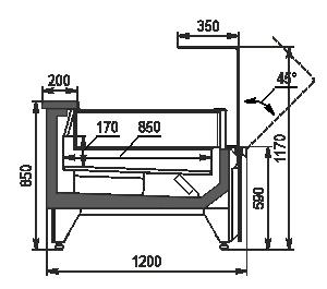 Холодильна вітрина Missouri MC 120 LT OS 120-DLM