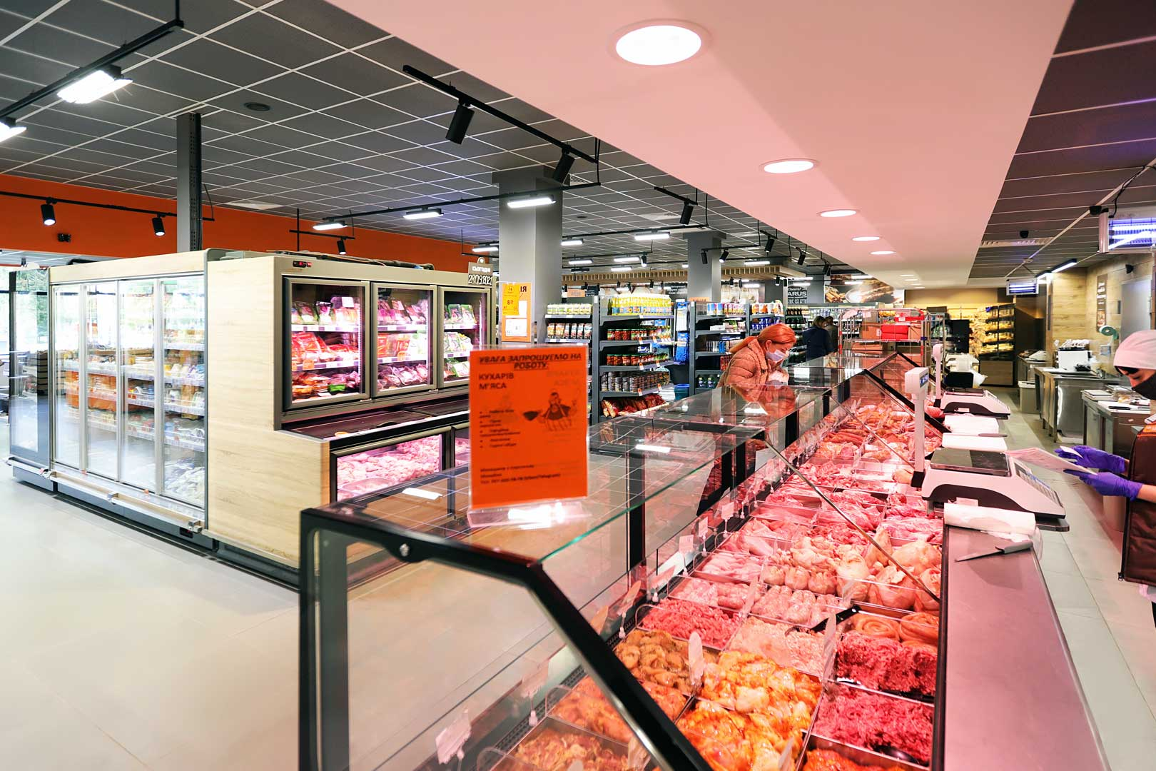 Холодильні вітрини Мissouri cold diamond MC 126 deli PS 130-DBM, вітрина для заморожених продуктів Аlaska combi 2 MHV 110 LT D/C 200-DLM-MD, супермаркет VARUS