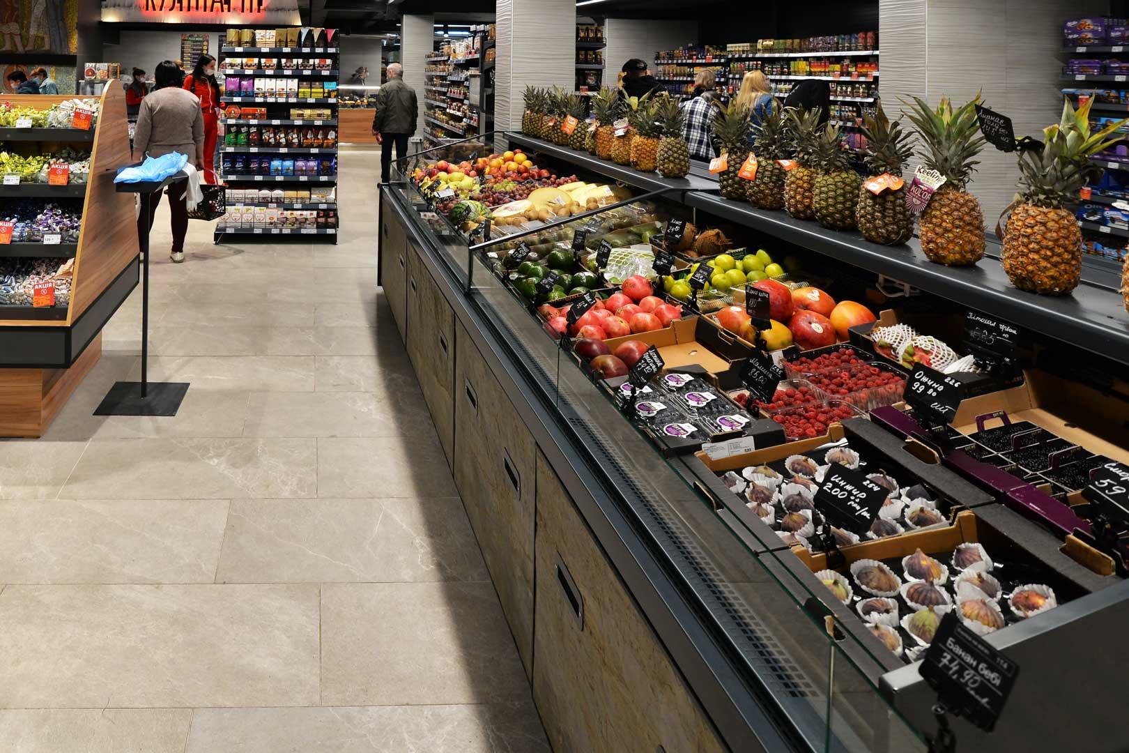 """Спеціалізовані вітрини для продажу овочів та фруктів Мissouri MC 110 deli VF PP self 110, супермаркет """"Сім'я"""""""