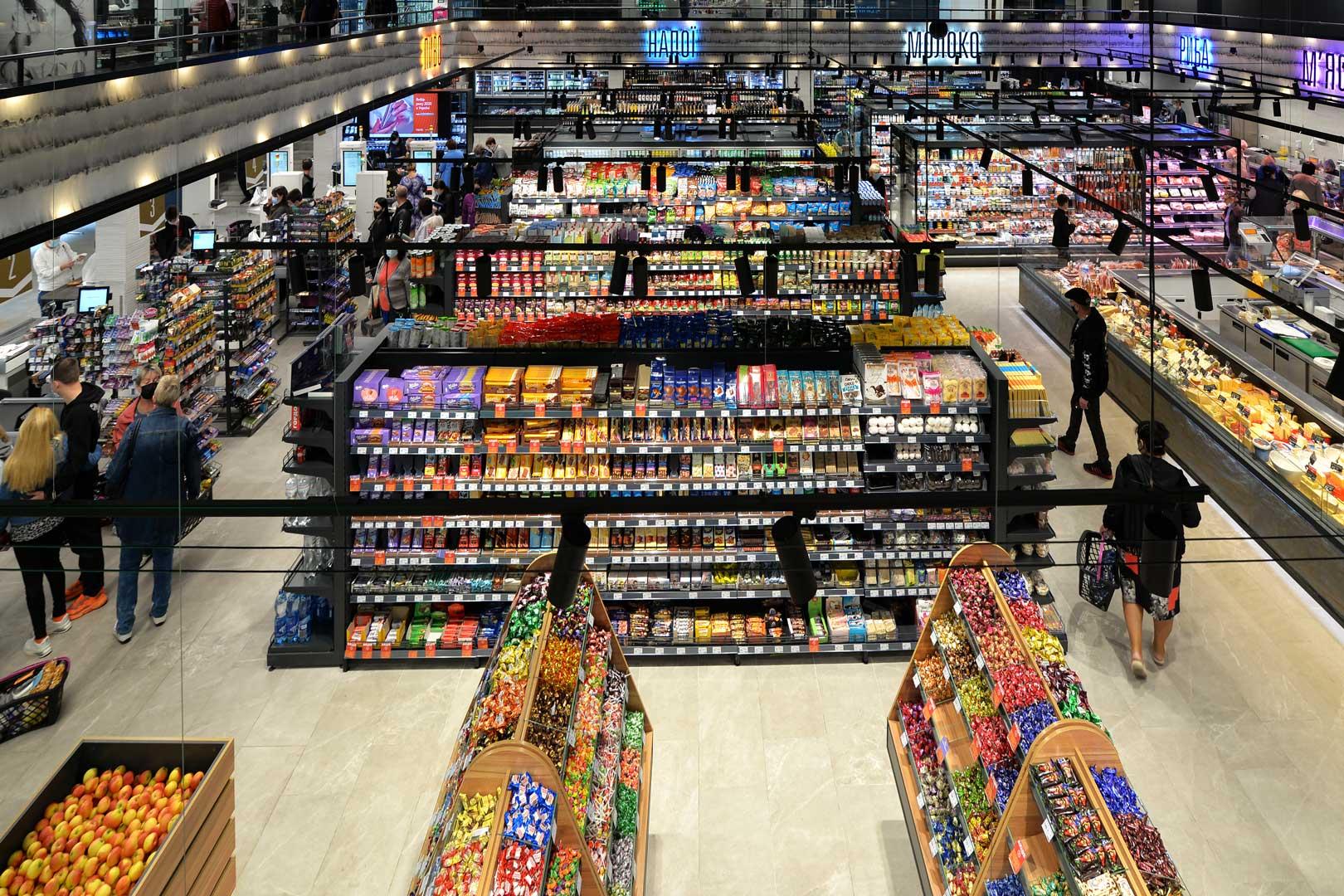 """Супермаркет """"Сім'я"""" у Бахмуті, Україна"""