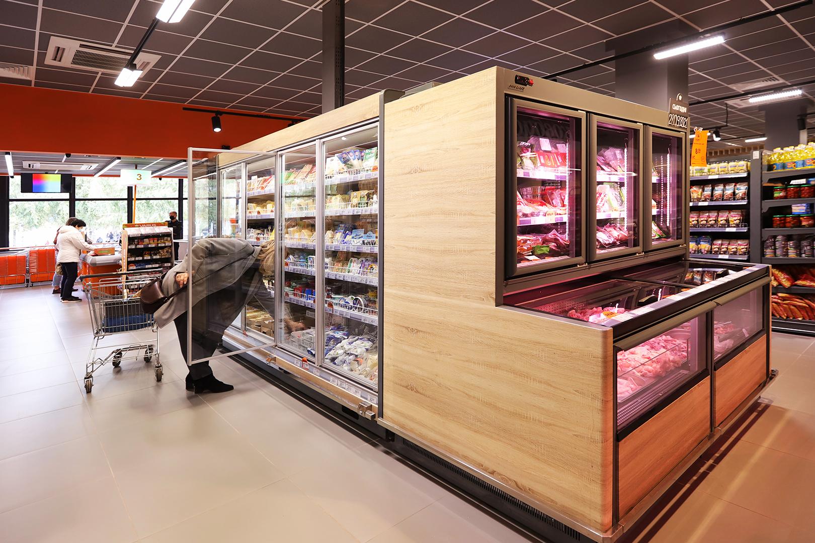 Вітрина для заморожених продуктів Alaska сombi MHV 110 MT D/C, супермаркет VARUS